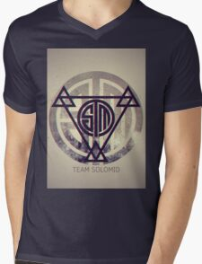 TSM Grunge Mens V-Neck T-Shirt
