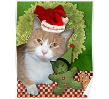 Merry Kitty Christmas Poster