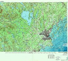 Maine USGS Historical Map Portland 808181 1985 100000 by wetdryvac