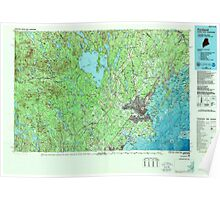 Maine USGS Historical Map Portland 808181 1985 100000 Poster