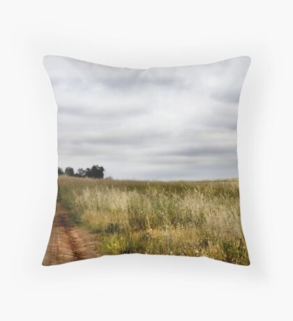 Weston Creek Track Throw Pillow