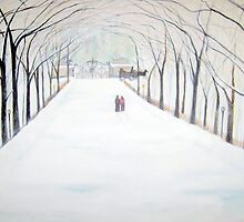 The  Silent Snowfall  Walk  /  Central  Park  NYC      by John Todaro