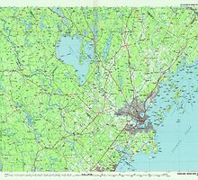 Maine USGS Historical Map Portland 808182 1985 100000 by wetdryvac