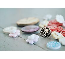 Cute as a Button Photographic Print