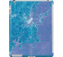 Maine USGS Historical Map Portland And Vicinity 807607 1916 62500 Inversion iPad Case/Skin