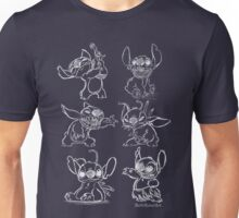 Rough Sketches of Stitch Collection Unisex T-Shirt