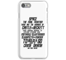Castle The Final Frontier- v1a iPhone Case/Skin