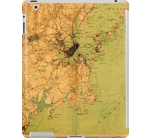 Maine USGS Historical Map Portland And Vicinity 807607 1916 62500 iPad Case/Skin