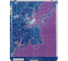 Maine USGS Historical Map Portland And Vicinity 807608 1918 62500 Inversion iPad Case/Skin