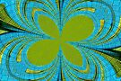 Lime Abstract by Carla Jensen
