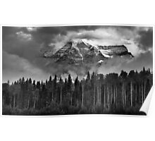 Clearing clouds: Mount Robson, British Columbia Poster
