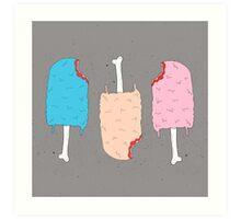 Zombie Treats - Fleshsicles  Art Print