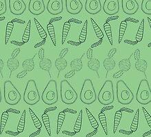 Eat your Veggies- Light Green/Dark Blue by Timwhodraws