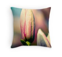 budding season Throw Pillow