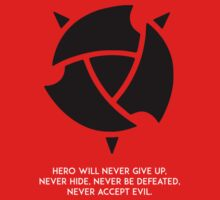 Hero will never give up T-shirt / Phone case / More 4 by zehel