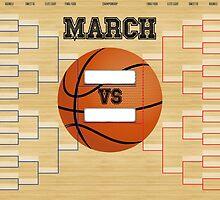 March Basketball Bracket by SportsSwagg