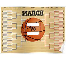 March Basketball Bracket Poster