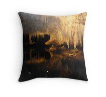 Lake Cave Throw Pillow