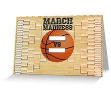 March Basketball Bracket Greeting Card