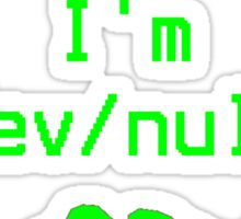 Without GNU I'm dev/null Sticker