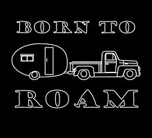 Born to Roam- 1952 International Pickup & Canned Ham in White by Ginger Young