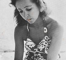 A Young Anais Nin with Blue Flowers by TR888