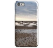 Empty beach, evening iPhone Case/Skin