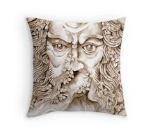 the garden god II - tribute to norman © patricia vannucci 2008  Throw Pillow