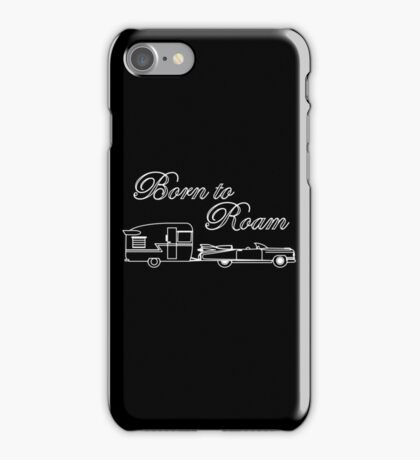 Born to Roam- Shasta & Caddy in White iPhone Case/Skin
