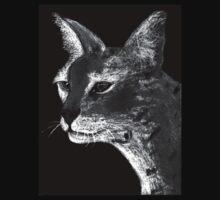 Stare Down B/W Tee by Dawn B Davies-McIninch