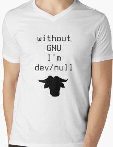 Without GNU I'm dev/null Mens V-Neck T-Shirt
