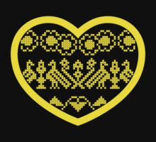 Love Ukraine - Vyshyvanka Heart Kids Tee