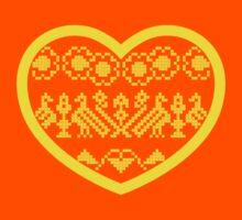 Love Ukraine - Vyshyvanka Heart Kids Clothes