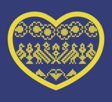 Love Ukraine - Vyshyvanka Heart by MaShusik
