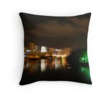 Miami at night Throw Pillow