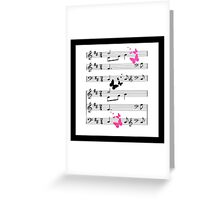 Musical Abstract Greeting Card