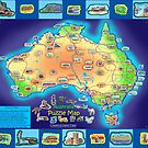 Australia Map board game by David Fraser