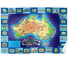 Australia Map board game Poster