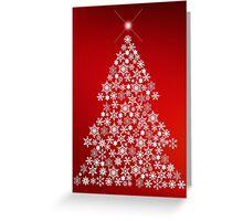 Snowflake Christmas Tree Greeting Card