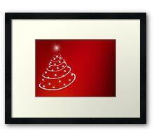 Christmas Tree with stars Framed Print