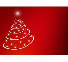 Christmas Tree with stars Photographic Print