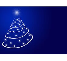 Christmas tree with stars Photographic Print