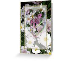 pretty flower card Greeting Card