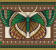 Emerald Butterfly by Kathleen Dupree