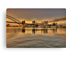 Reflections Of Morn (Uncut)- Moods Of A City - The HDR Series Canvas Print