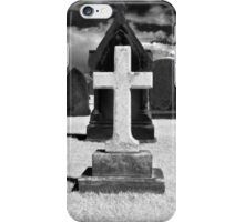 White Cross in Cemetary, St Andrews, Scotland iPhone Case/Skin