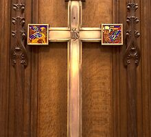 Cross in the Thistle Chapel, St Giles Cathedral, Edinburgh, Scotland by acaldwell