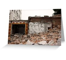 Beijing under destruction 1 Greeting Card
