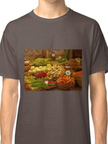 Fresh Vegetables, Street Market in Can Tho, Southern Vietnam Classic T-Shirt