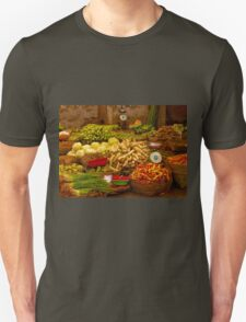 Fresh Vegetables, Street Market in Can Tho, Southern Vietnam Unisex T-Shirt